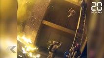 Un pompier rattrape un enfant lancé du 3ème étage lors d'un incendie - Le Rewind du mercredi 17 janvier 2018