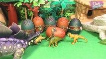 9 DINOSAURS ANIMALS SURPRISE TOYS 3D PUZZLES for kids - Indominus Rex Tyrannosaurus Velociraptor