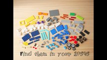 Building a simple LEGO AirPlane using Classic 10696 (レゴ:飛行機の作り方)