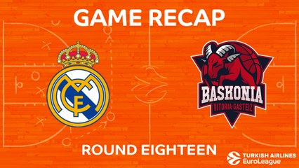 EuroLeague 2017-18 Highlights Regular Season Round 18 video: Madrid 75-73 Baskonia
