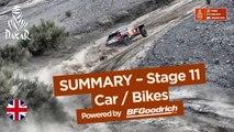 Summary - Car/Bike - Stage 11 (Belén / Fiambalá / Chilecito) - Dakar 2018