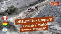 Resumen - Coche/Moto - Etapa 11 (Belén / Fiambalá / Chilecito) - Dakar 2018