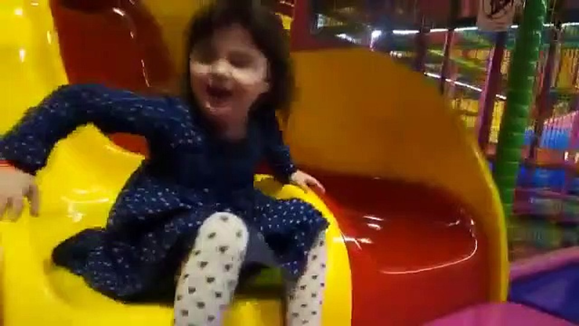 Playing Indoor Playground Kids Fun with Balls Toys Play cente for Kids