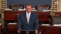 Senator Jeff Flake Slams President Donald Trump's News Media Attacks _ NBC News