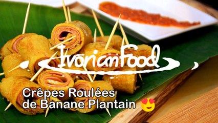 Les fameuses crêpes roulées de banane plantain !