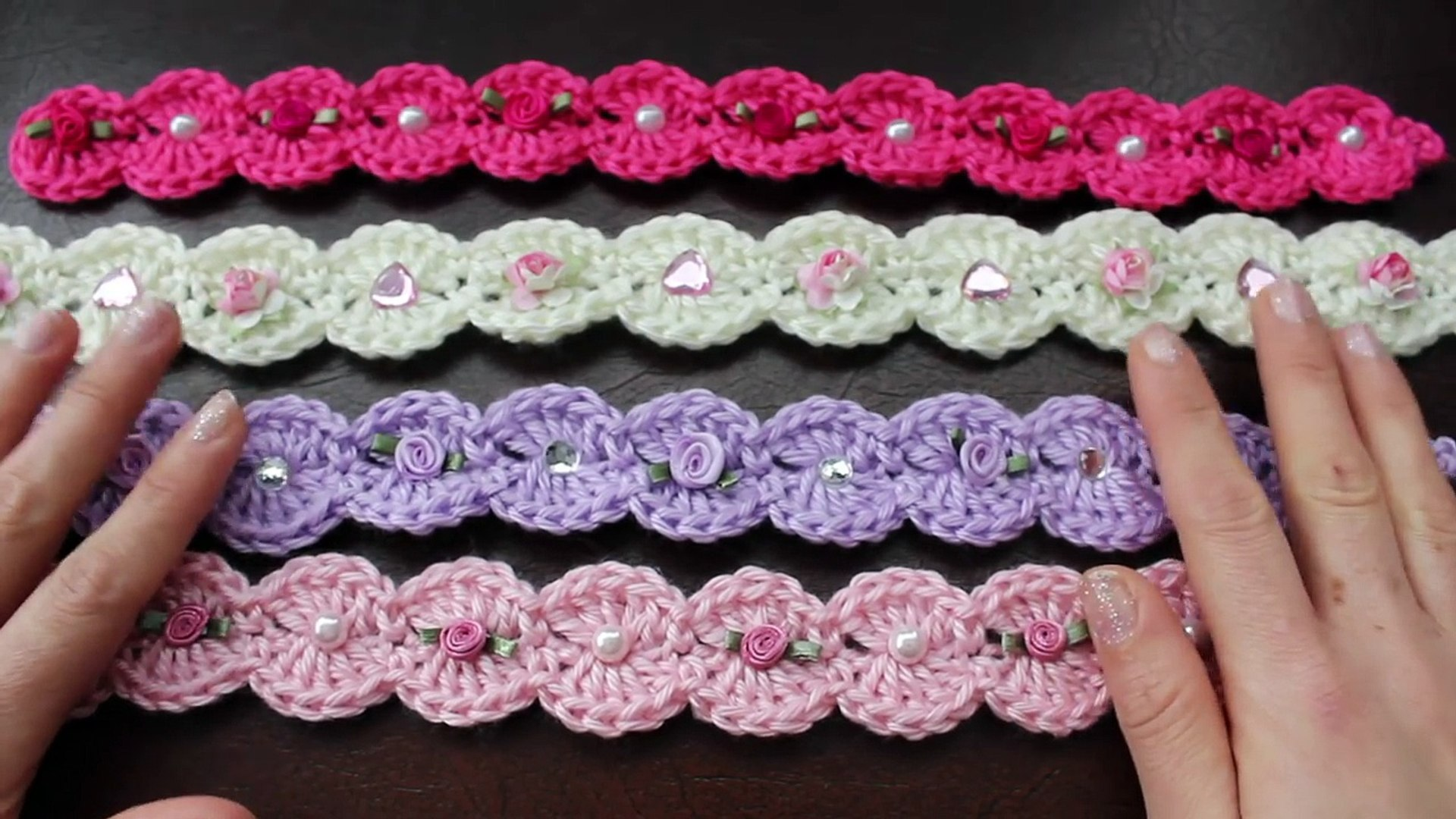 Como Hacer Una Diadema Facil De Gancho Crochet O Ganchillo