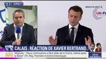 """Calais: """"Il faut engager avec les Britanniques un vrai bras de fer"""", estime Xavier Bertrand"""