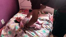 Mãe VS Pai com meus Bebês Reborn (Mom V.S Dad Reborn Baby) - Gabi Reborn
