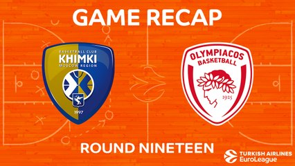 EuroLeague 2017-18 Highlights Regular Season Round 19 video: Khimki 82-54 Olympiacos