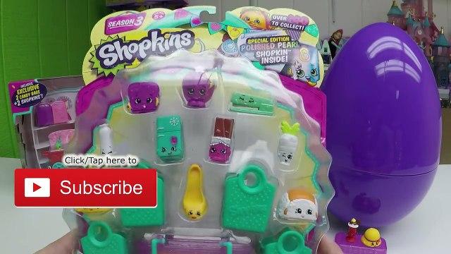 SHOPKINS TOYS SURPRISE GUMBALL MACHINE + Giant Egg Surprise Opening Toy Surprises Disney Palace Pets