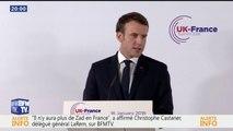 """Mineurs non-accompagnés: """"point important"""" du traité franco-britannique sur l'immigration, dit Macron"""