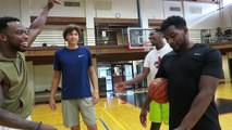 7 FOOT ATHLETIC ALL STATE & 6'10 BASKETBALL PLAYERS VS. STREET BALLERS *THE UNTHINKABLE HAPPENS*