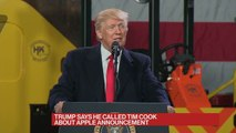 Trump Thanks Apple for Bringing Cash Back to U.S.