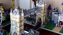 Lego 10214 London Tower Train Bridge MOC Custom City Scene