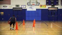 """BASKETBALL DRIBBLE DRILL : """"Serpentine with Scissor Dribble"""" - Shot Science"""