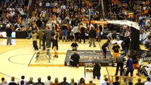 Guy dunks himself through Basketball Hoop, Phoenix Suns Gorilla (Original) Boy gets dunked