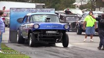 2012 Blew By You Gasser Drag Racing Ride Along Jalopy Showdown Drags Beaver Springs Dragway Video