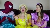 #4 Frozen Elsa CLOTHES SWAP CHALLENGE w  Spiderman Belle Rapunzel Joker Fun Superhero in real life | Superheroes | Spiderman | Superman | Frozen Elsa | Joker