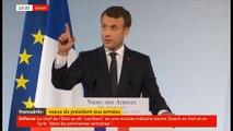 Emmanuel Macron ironise après l'explosion d'une ampoule lors de ses voeux aux armées - VIDEO