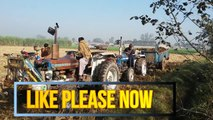 tractor videos,very amazing incident in farm tractor fails withe trolly pulling 3 tractors