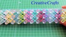 Como hacer una pulsera DOBLE X de gomitas, ligas. Rainbow Loom bracelet Double X