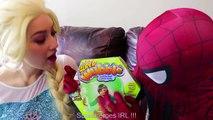 #4Frozen Elsa SUPER WUBBLE BUBBLE w  Spiderman Joker Maleficent Spidergirl Fun Superhero in real | Superheroes | Spiderman | Superman | Frozen Elsa | Joker