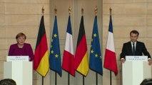 Conférence de presse avec la Chancelière de la République fédérale d'Allemagne, Angela Merkel.