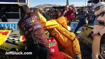 Joey Logano and Kyle Busch fight in Las Vegas (Nascar 2017)