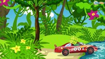 The Police Cars with Racing Cars - Speed Race Cartoons for children.