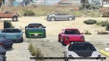 Grand Theft Auto V Online (PS4)   Street Car Meet Pt.1   Car Show, Drag Racing, Bar Fight & More