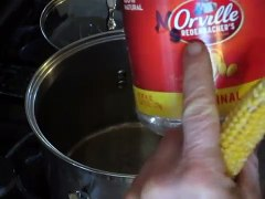 Popping and drying ears of corn