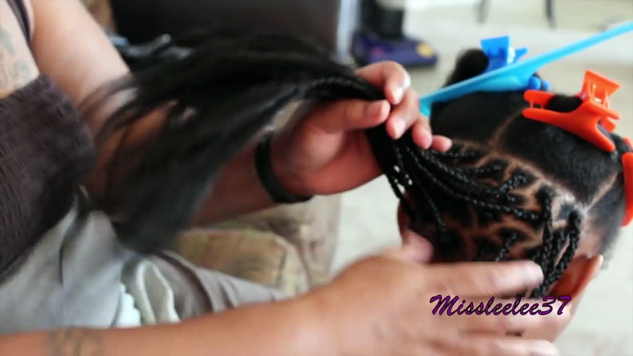 Box Braids on my Daughters Natural Hair!