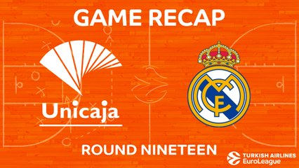 EuroLeague 2017-18 Highlights Regular Season Round 19 video: Unicaja 80-75 Madrid