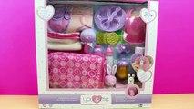 Bolso Cambiador y accesorios para la muñeca bebé | La bebé come papilla y hace pipí en el orinal