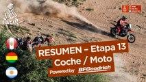 Resumen - Coche/Moto - Etapa 13 (San Juan / Córdoba) - Dakar 2018