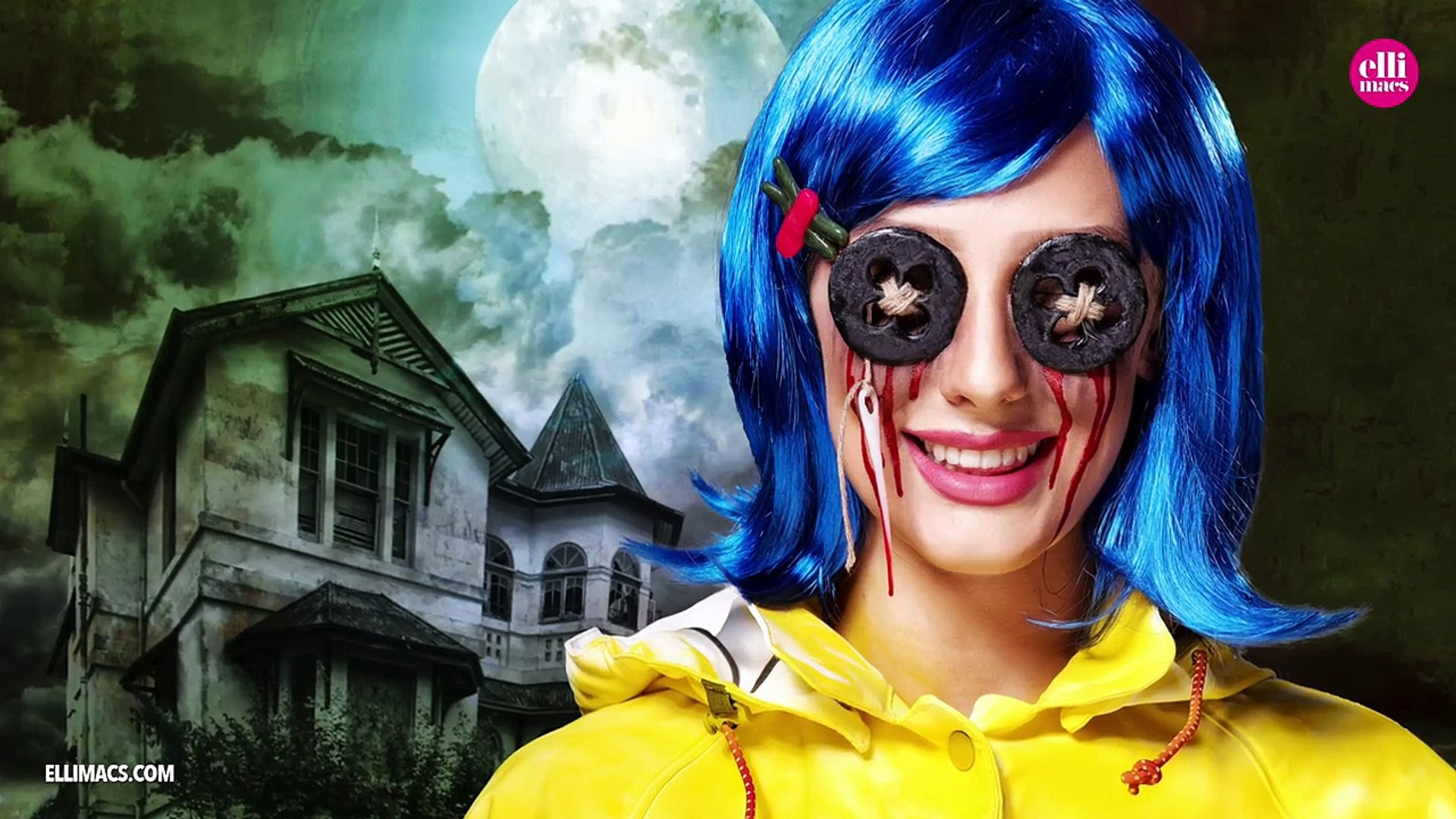 Coraline Cosplay Makeup And Prop Tutorial Video Dailymotion