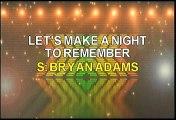 Bryan Adams Let's Make A Night To Remember Karaoke Version