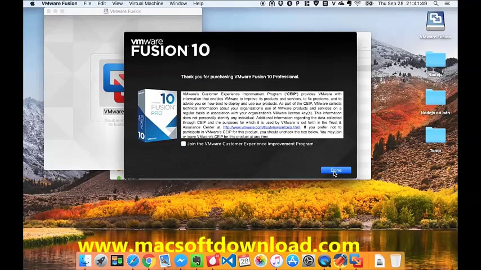 VMware Fusion Pro 10 1 1 Full Version MAC 2018
