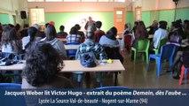 Jacques Weber rencontre les élèves de l'académie de Créteil