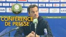 Conférence de presse FC Sochaux-Montbéliard - AS Nancy Lorraine (1-0) : Peter ZEIDLER (FCSM) - Vincent HOGNON (ASNL) - 2017/2018