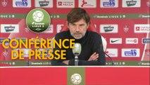 Conférence de presse Stade Brestois 29 - RC Lens (1-1) : Jean-Marc FURLAN (BREST) - Eric SIKORA (RCL) - 2017/2018