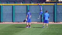 Air Baez - Cubs Javier Baez Goes High to Make Catch
