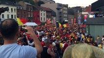 Ecran géant à Charleroi: les Belges en quarts