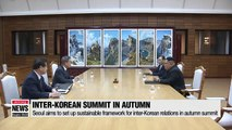 Seoul aims to set up sustainable framework for inter-Korean relations in fall summit