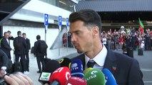 A chegada da seleção portuguesa a Lisboa