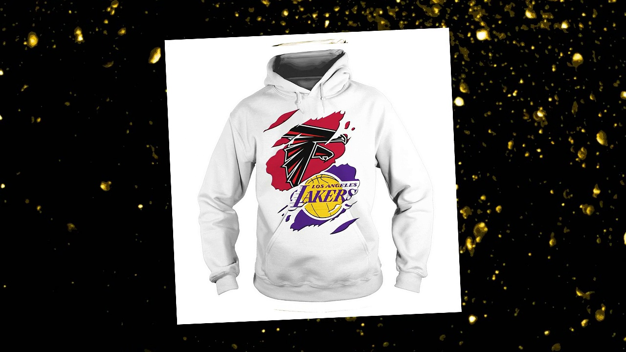 Atlanta Falcons and Los Angeles Lakers shirt and hoodie