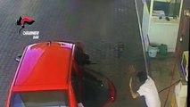 Finalmente presi gli autori delle rapine armate ai danni di attività nel barese - il video diffuso dalle telecamere durante una rapina presso un distributore di carburanti