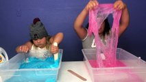 MAKING GIANT SLIME BUBBLES - WHICH GLUE MAKES THE BEST SLIME BUBBLES