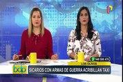 Los Olivos: sicarios asesinan a balazos a taxista y pasajero
