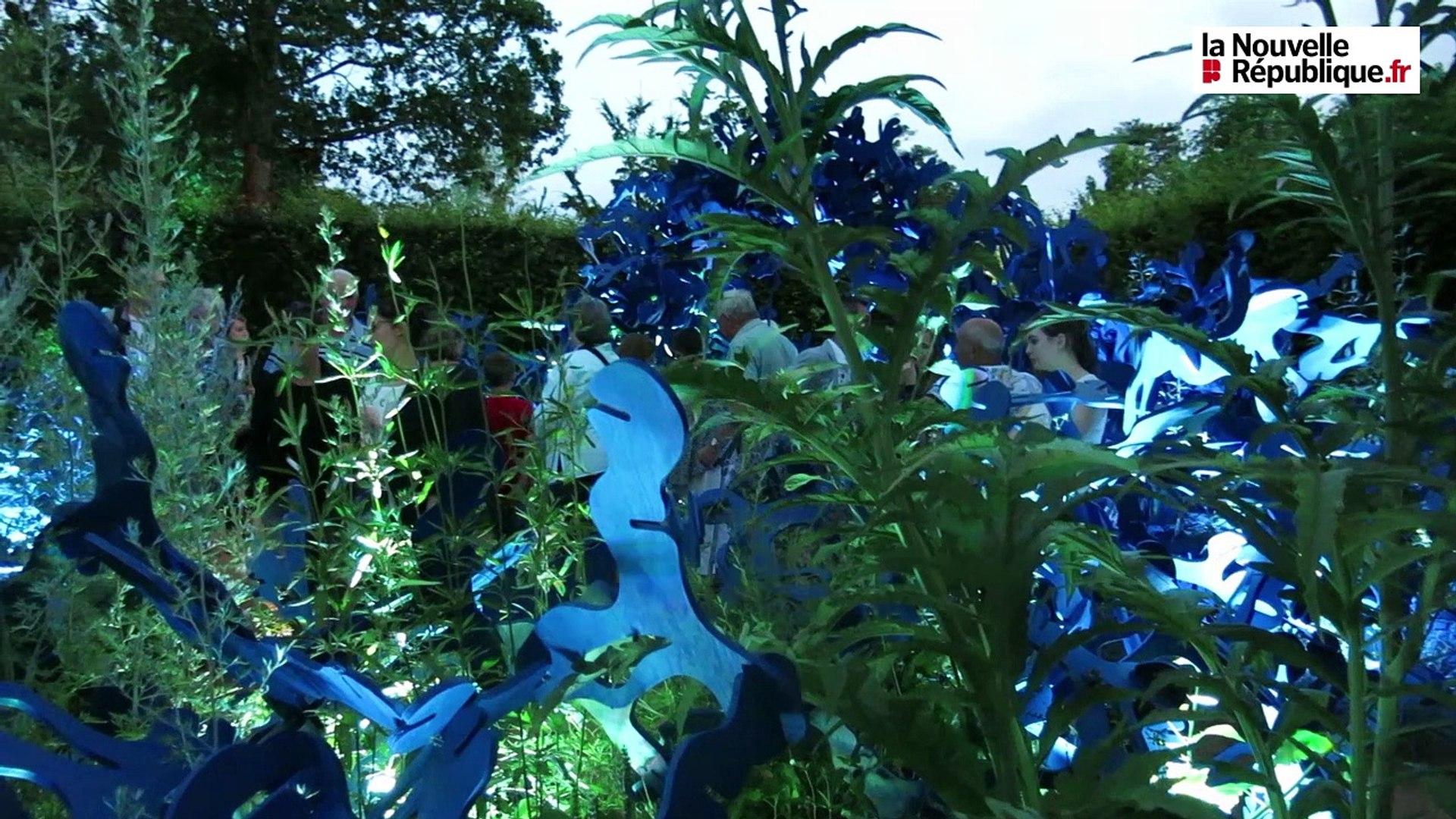 Festival Des Jardins Chaumont Sur Loire 2009 video. les jardins de lumière s'illuminent chaque soir à chaumont-sur-loire